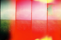 他方。 (Kerb 汪) Tags: red paris film grass train germany lomo supersampler surprise murmur kerb ★ 呢喃 出奇 kerbwang