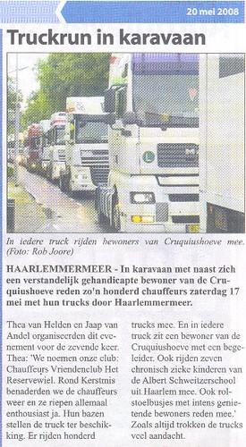 Trucks in karavaan