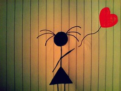 #22/365- Maybe it's time to let go... (Her life in pictures) Tags: pictures life red love girl sisters paper notebook is you tell drawing awesome go balloon her doodle how say tonight loved let scissor might letting lined sooooo minski i zenhe