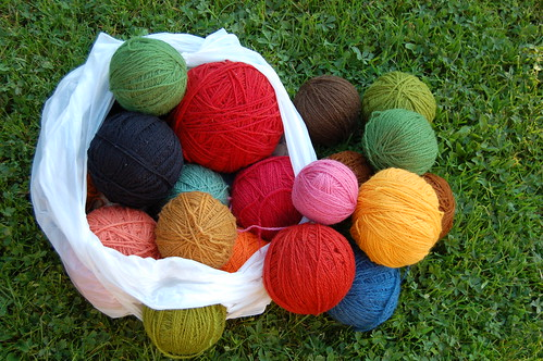 Bag of Wool Yarn