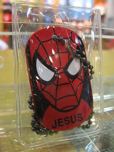 Spider-Jesus dog tag