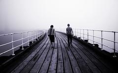 whitby pier_2 (mattymacro) Tags: wood white mist black fog walking pier grain whitby