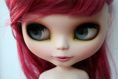 Tashas blue eyes (erregiro) Tags: nose eyes doll makeup lips carve moore blythe mm custom natasha tasha sbl asil eyechips erregiro oreder woodspriteblythe