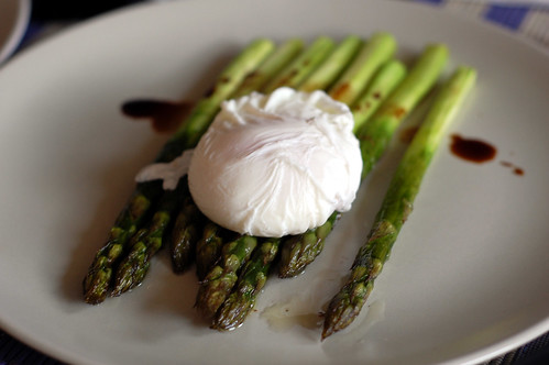 Poached Egg on Roasted Asparagus