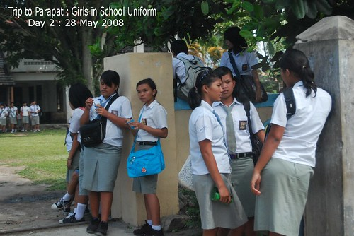 Trip to Parapat : Girls in School Uniform