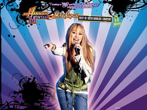 hannah montana wallpaper. Hannah Montana and Miley Cyrus