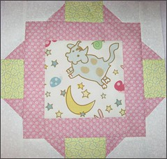 "Block #2 from ""Tickled Pink"" quilt"