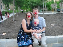 Clown Family at Reception