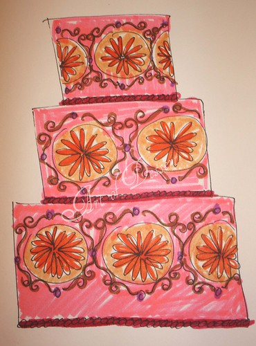 """Girly"" Cake Sketch"