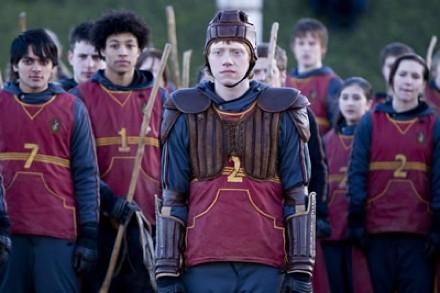 Harry Potter y el misterio del príncipe, Ron en quidditch