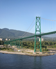 Lions Gate Bridge, Vancouver, BC (MyRidgebacks - Sharon C Johnson) Tags: vacation bridges lionsgatebridge vancouverbc golddragon worldicon betterthangood myridgebacksphotography