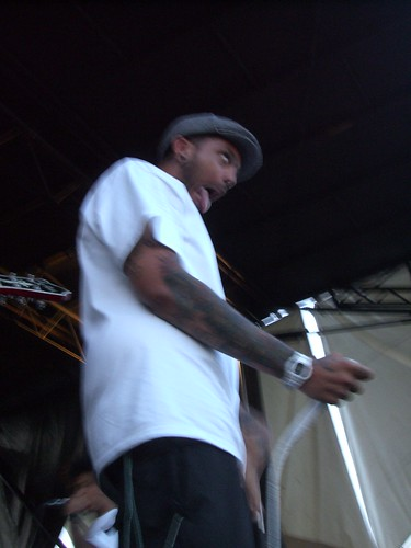 Travis from Gym Class Heroes at Wapred Tour 2008