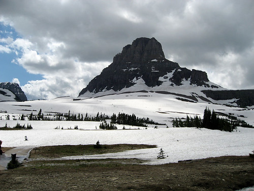 snow at Logan Pass