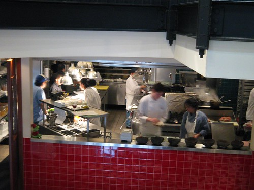 Open kitchen at Cafe Atlantico