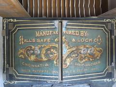 bank safe (mmmishu) Tags: california ghosttown vault bodie sierranevada miningtown banksafe hallssafeandlockcompany