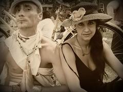 strangers #48: Gravity and Lorraine (artsy_T) Tags: nyc newyorkcity people woman newyork man strangers lisa gravity singer performers sophia governorsisland flooz flooznyc leepak lorraineleckie 100strangerscom