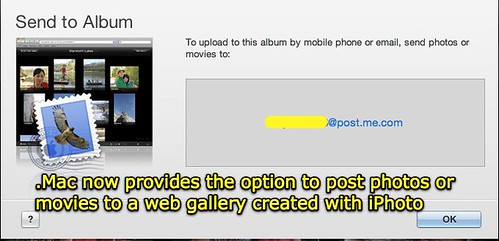 MobileMe Gallery - Post via email