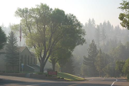 Markleeville in the smoke