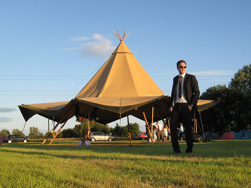 Cool dude + tipi