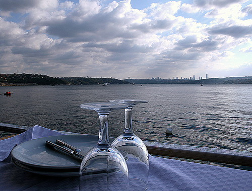 Fish restaurant in Bosphorus istanbul