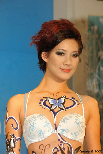 butterfly and art body paint