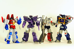 Decepticon Class of 2008 (revlimit) Tags: macro toys nikon transformers nikkor custom megatron soundwave decepticons starscream d300 shockwave revoltech 55mm28macro