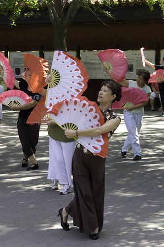 Jingshan Park Fan Dancers