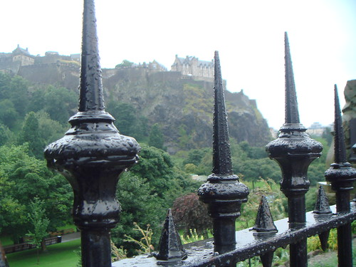 Edinburgh Castle in the distance