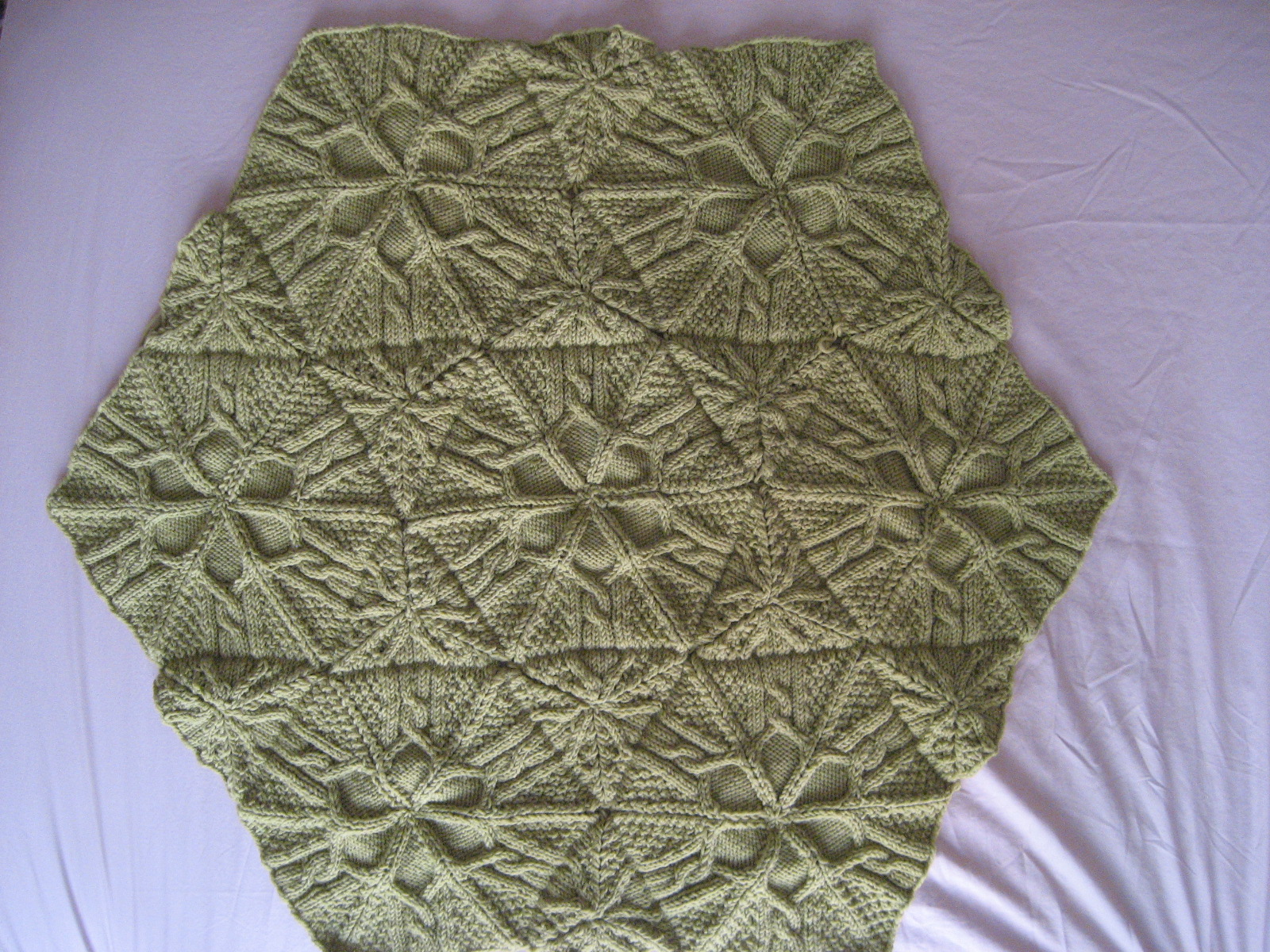 hexagon/triangle afghan in progress