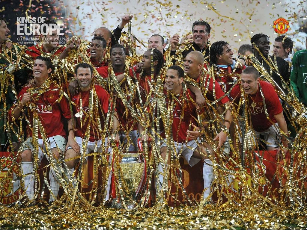 manchester united players, kings of europe champion