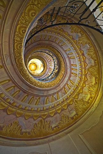 Melk Abbey Spiral Staircase by Alida's Photos
