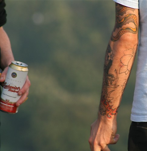 beer and tattoos