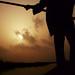 Benin - Pirogue Silhouette