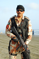 Defence Day 6 September 2008 (Raja Islam) Tags: pakistan 6 beach army gun ranger day force image police best september professional weapon proof bullet karachi rangers clifton sind sindh defence swat mp5 trained sachal