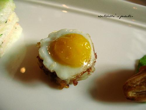 西華飯店Harrod's午茶之馬鈴薯鵪鶉蛋