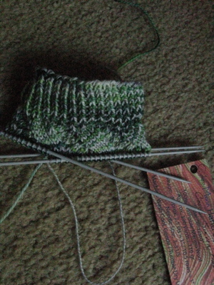 Spring Forward sock in progress