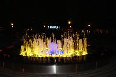 Fountain effect (Majka Kmecova) Tags: city light summer color water fountain night evening slovakia effect bratislava capitalcity majka sonys60 kmecova