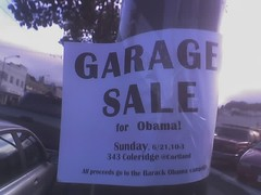 Garage Sale for Obama