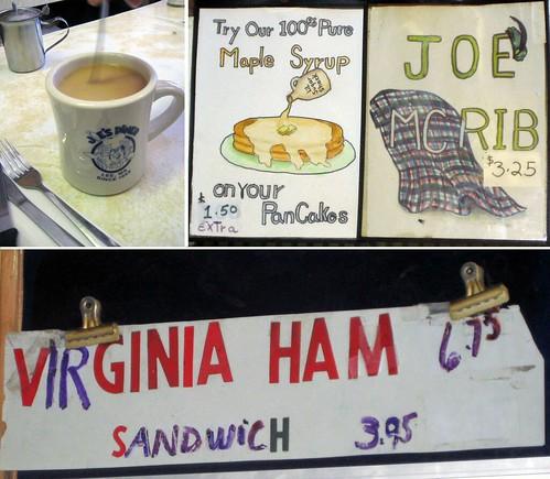 Joe's diner hand typography copy