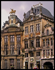 How much detail can you put in the limited space of a photo? (Mike G. K.) Tags: old windows brussels horse signs architecture buildings gold doors arch grandplace columns statues balconies rider hdr photomatix 1exp golddragon singlejpghdr concordians theperfectphotographer anticando