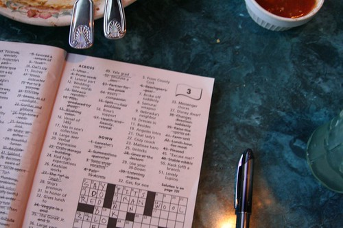week in the life : crossword at lunch by you.