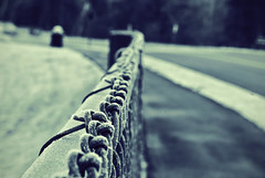 Alone (Fey Ilyas) Tags: road white snow black fence frost alone bokeh sony stretch a200