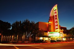 Orinda Theater at dusk (jpaulus) Tags: california movie theater neon artdeco orinda d90