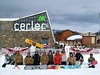 Snowboarders at Cerler pose for a picture