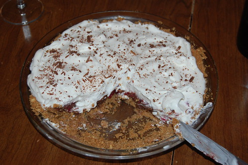raspberry dark chocolate pie