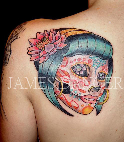 day of dead girl tattoo design. tattoo day of the dead girl