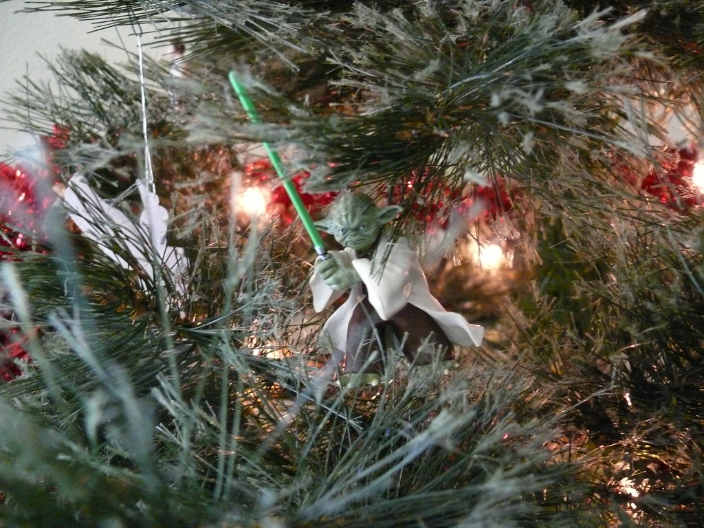 star wars christmas tree phempsall tags christmas xmas decorations tree lights starwars yoda