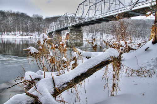 Dingman's Ferry Bridge - HDR