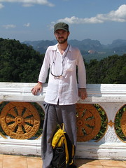 Mika on top of the Tiger Cave Temple mountain