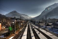 Bludenz Railway (jujussel) Tags: mountain train montafon rail berge bludenz gleis vorarlberg brs